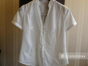 Белая блузка из хлопка  Zolla 42-44