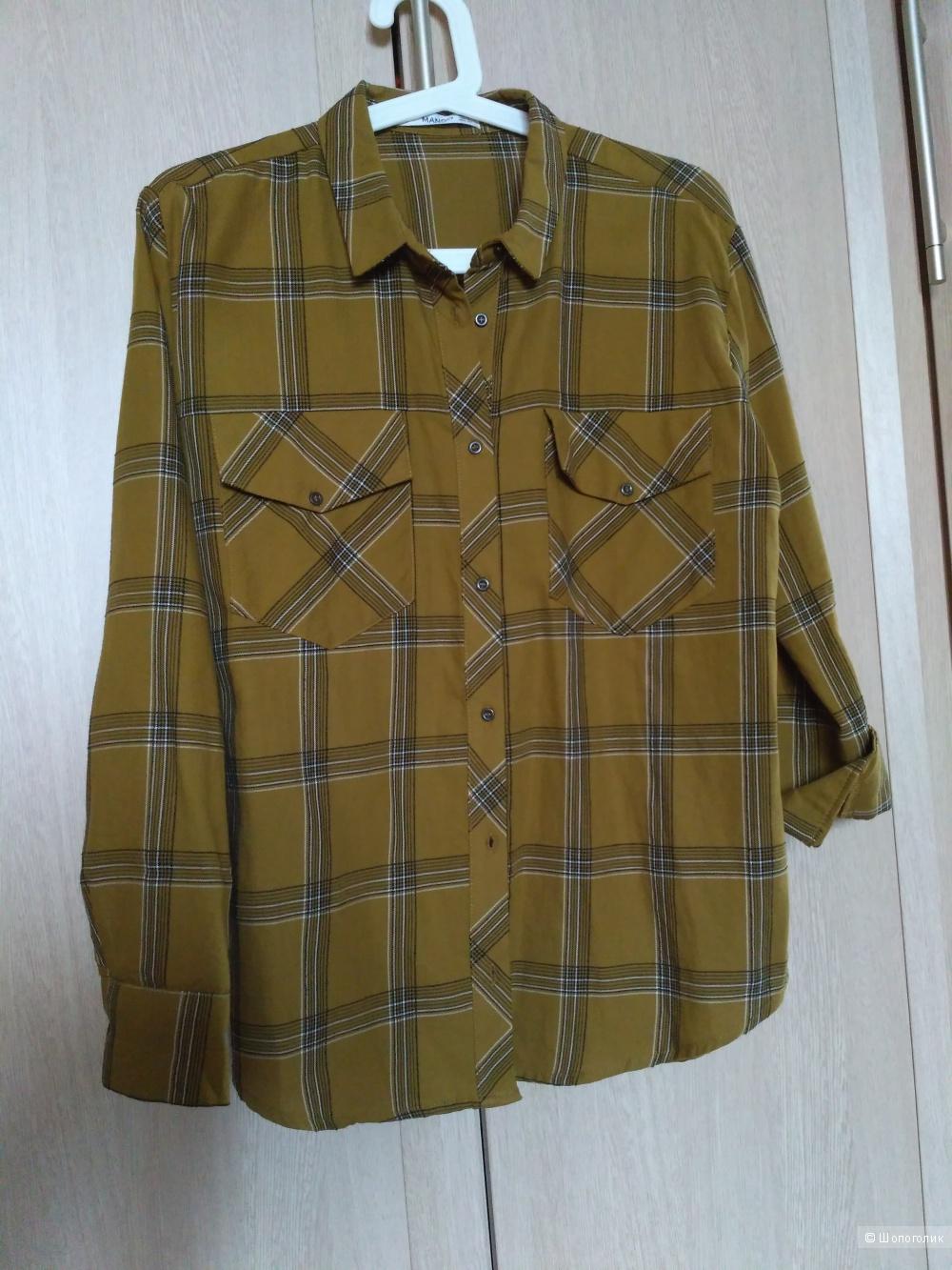 Новая х/б рубашка Mango, S
