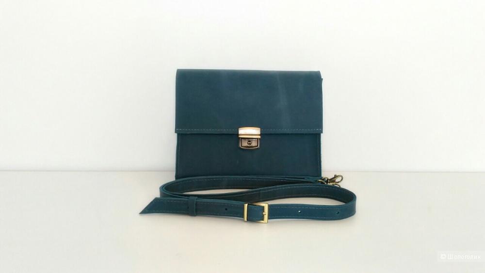Кожаная сумка-клатч