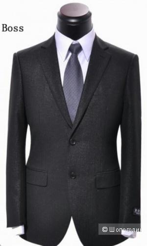 HUGO BOSS: мужской шерстяной пиджак, оригинал, 48