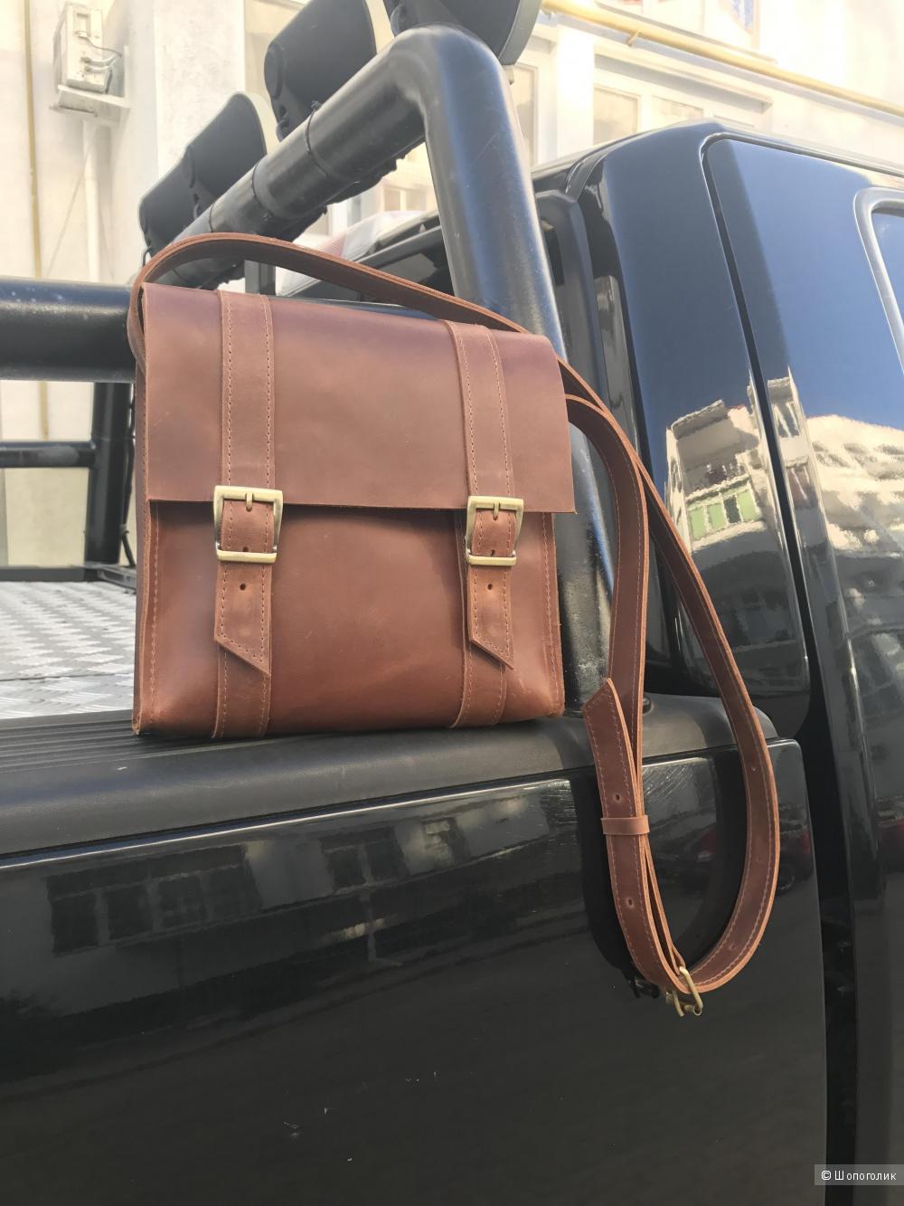 Кожаная мужская сумка