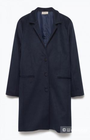 Темно-синее пальто American Vintage + платок Bimba y Lola