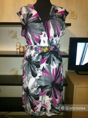 YUMI (England).  Трикотажное платье с поясом. Размер: M/L (на 44-46 размер).