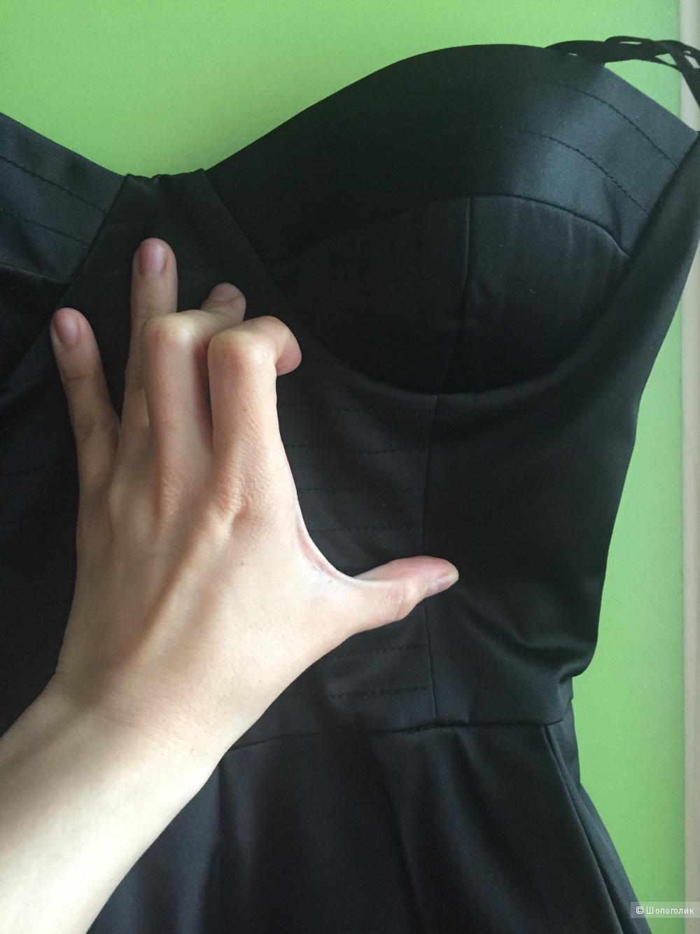 Вечернее чёрное платье 42 российский размер