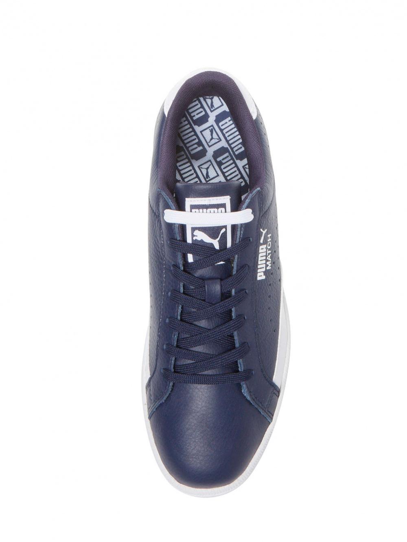 Мужские кожаные кеды Puma. Размер 10,5US/9,5UK/44EUR. По стельке 28 см. Темно-синие.