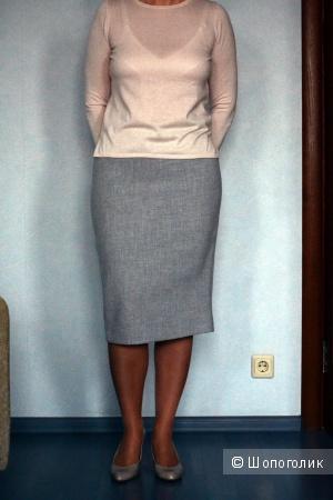 Юбка -карандаш Massimo Dutti серого цвета, новая, размер М