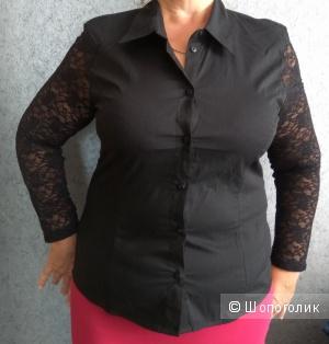 Новая блузка с кружевными рукавами, Crazy World, р.46-48