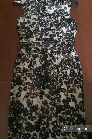 Новое платье с леопардовым принтом 42 российский размер