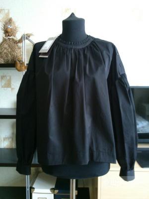 ZARA TRAFALUC.  Блузка из плотного хлопка (поплин). Размер M (на 44-46).