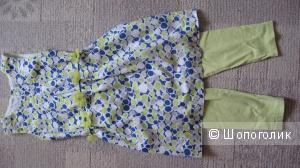 Комплект платье-туника + лосины 7-8 лет C&A