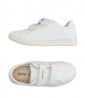 Белые кожаные кроссовки Geox р38