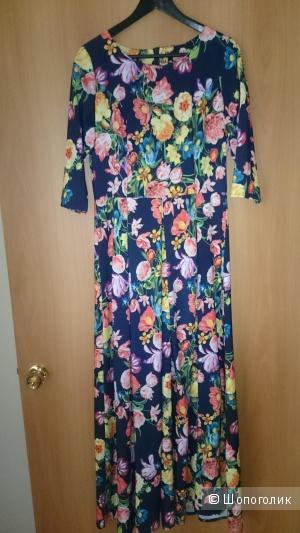 Цветочное платье, размер 48