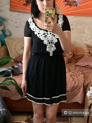 Турецкое платье с кружевом Размер 42-44