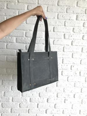 Кожаная сумочка на плечо