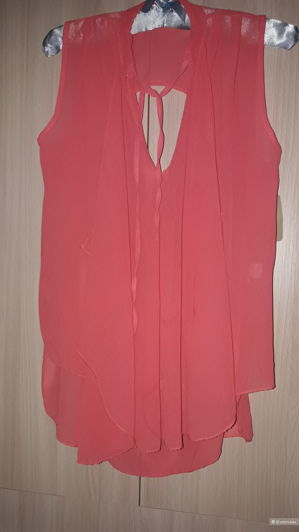 Шифоновая блузка-топ, размер 46-48