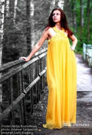Дизайнерское платье 44-46 размер