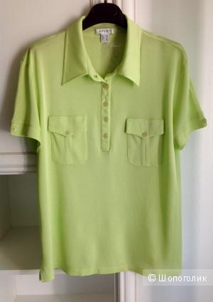 Шелковая футболка-поло Apart, размер 50-52.