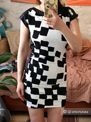Турецкое платье шахматы. Размер 42-44