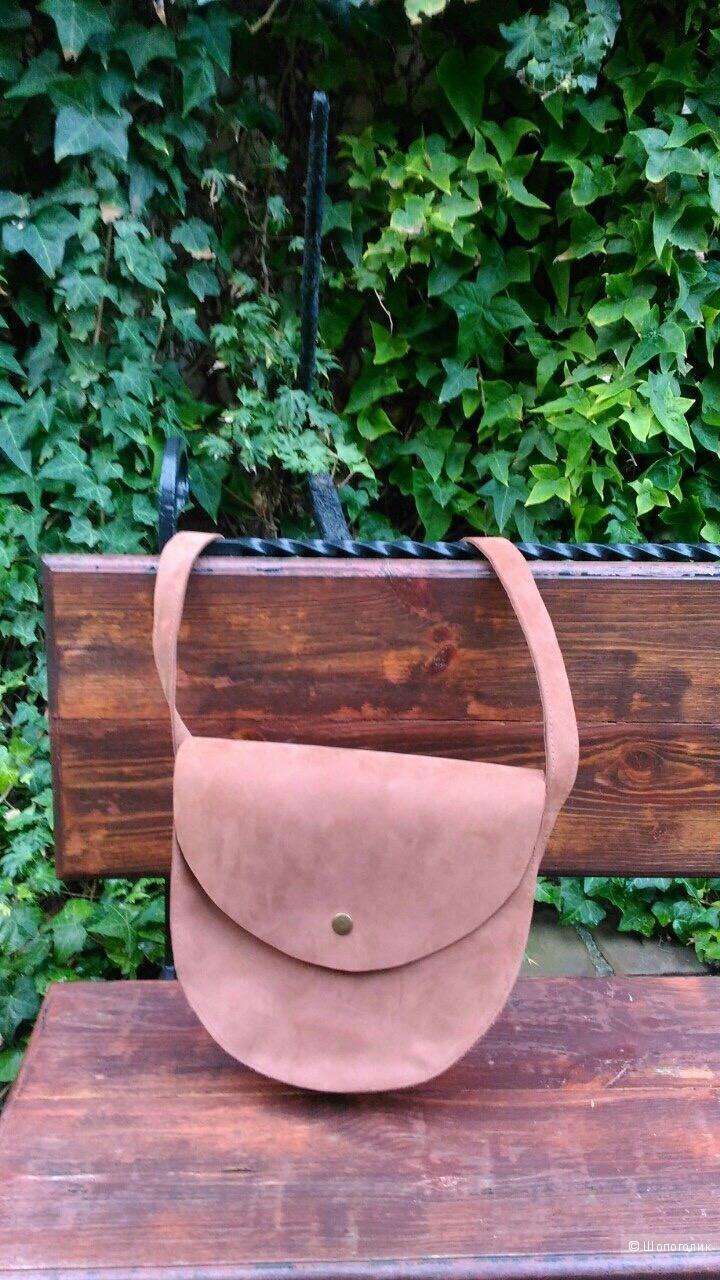 Кожаная сумочка через плечо