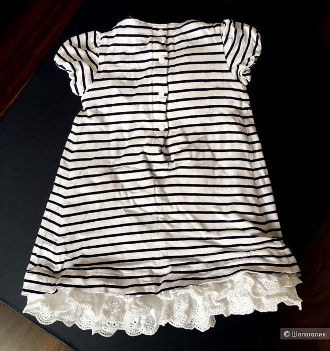 Платье-тельняшка M+e, 9-12 мес