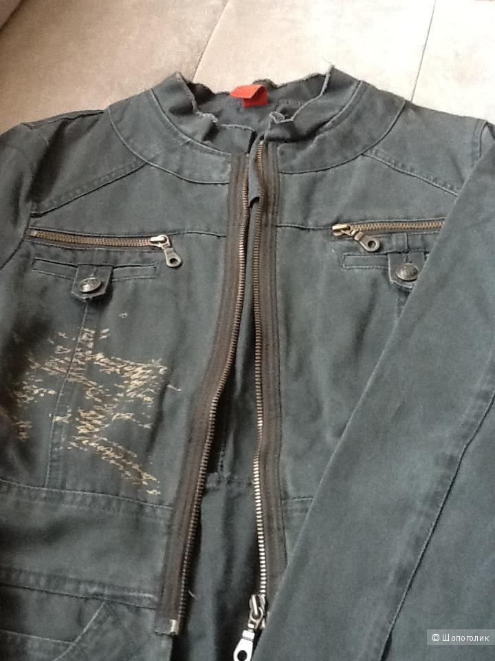 Куртка- пиджак из денима , Vila, 42-44