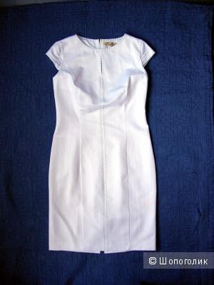 Белое платье хлопок-стретч от дизайнера Елены Шипиловой, р. 46