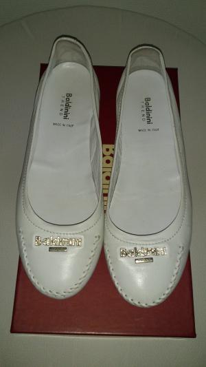 Балетки белые Baldinini, размер 37 1/2, Италия