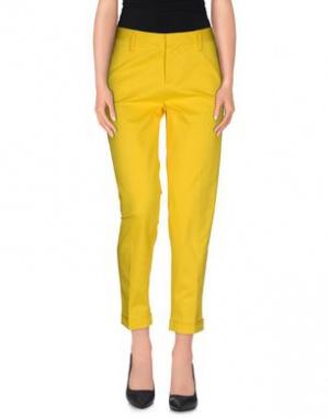 Желтые хлопковые брюки DSQUARED2 на 44