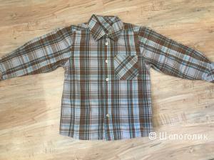 Клетчатая рубашка на мальчика, р. 3-4 года, реально на 5-6 лет.