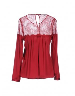 Шелковая блуза с кружевной отделкой Chtisies a Porter 44it