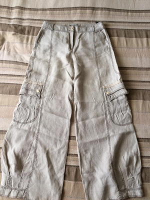Льняные брюки Guzella, размер UK 14