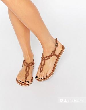 Замшевые сандалии New Look, Размер  EU37 (UK4)