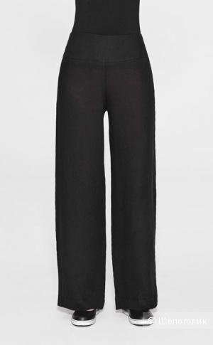 Серо-голубые льняные брюки  Sarah Pacini .Размер на росс. 42-44