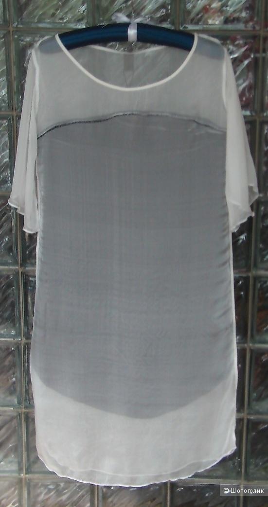 Летнее платье-свитшот из шелка и хлопка Jijil, размер S