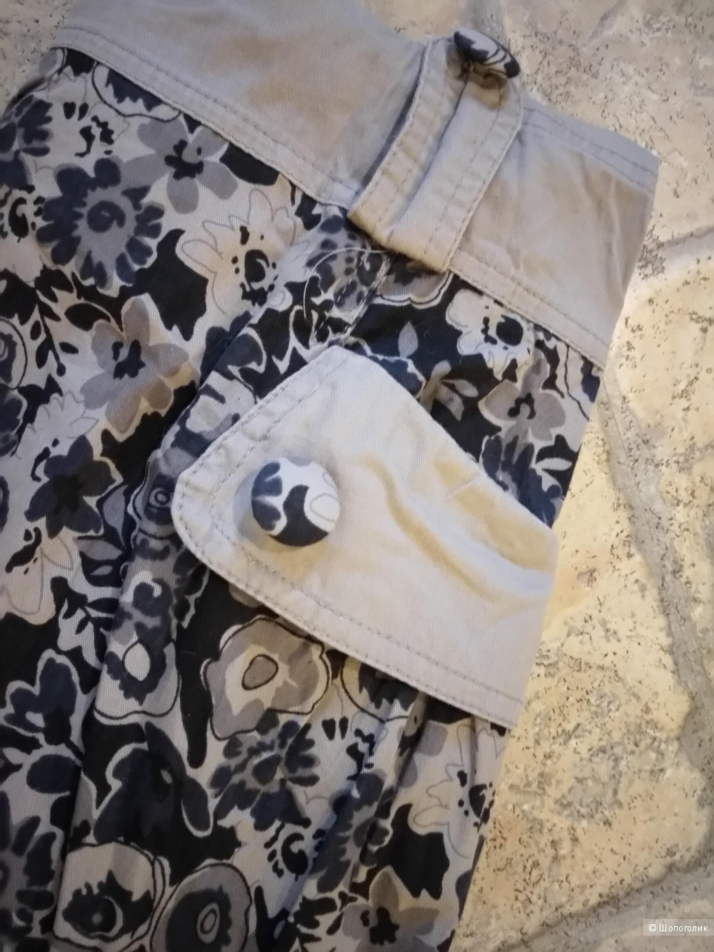 Стильное,бежево - чёрное, коротенькое платье без рукавов, с юбочкой - бочкой размер 40 , рос. размер 42 - 44,от GUST BRAVIRS.