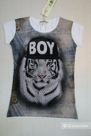 Новая  хлопковая футболка Pakkoo Турция р. S
