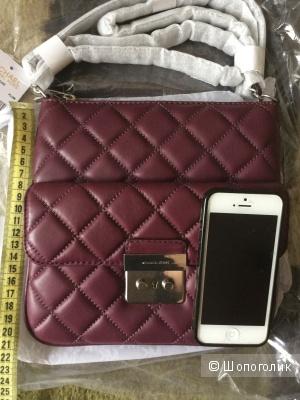 Новая сумочка Michael Kors, модель Sloan, цвет Plum, кожа, кроссбоди
