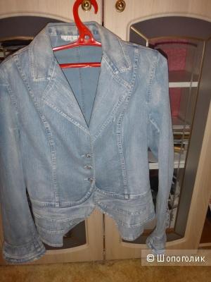 Пиджак джинсовый 44= 46 размер