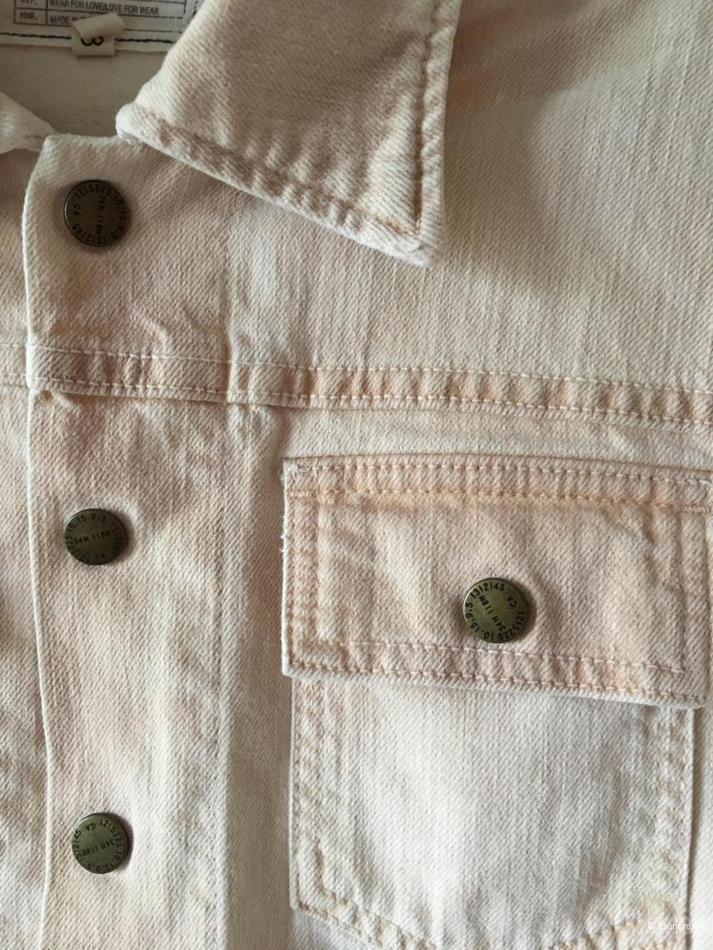 Светлая джинсовая куртка CURRENT/ELLIOT, размер 3 (на 46-48)
