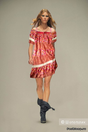 Шелковое летнее платье Replay (размер S-M)