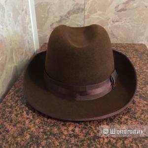 Мужская фетровая шляпа, Щелковский фетр, размер 60