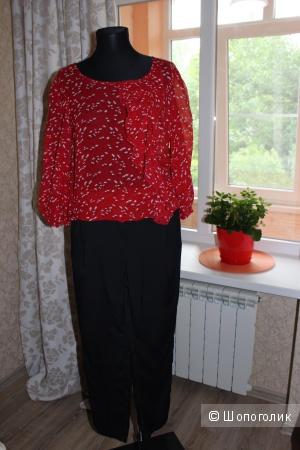 Блуза с принтом, размер 44-46