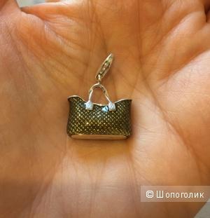 Подвеска-шарм в виде сумочки стерлинговое серебро 925-й пробы немецкого бренда Thomas Sabo.