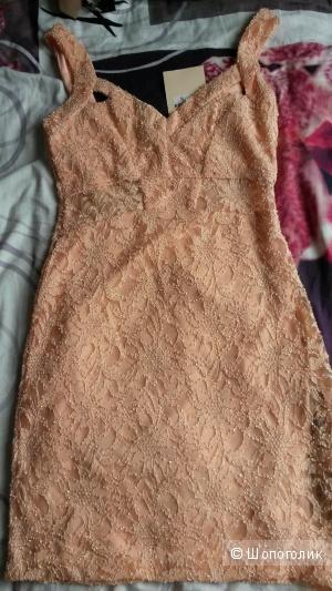 Гипюровое мини платье, размер С