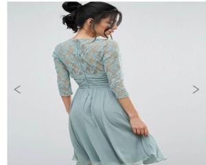 Платье миди с кружевом и драпировкой на талии Elise Ryan, размер 36 S