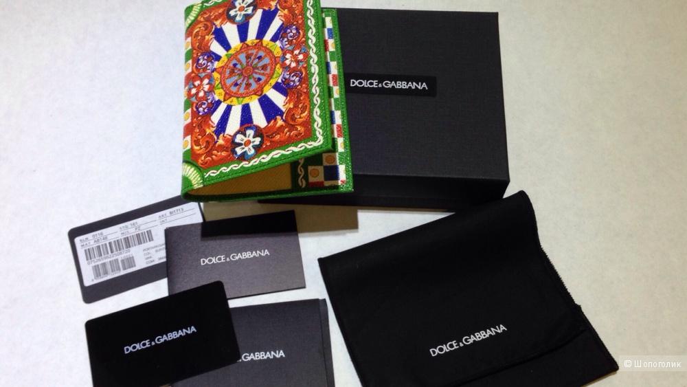 DOLCE&GABBANA обложка на паспорт с принтом Caretto Siciliano Новая.Оригинал
