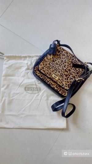 Кожаная сумка Fossil, б/у, оригинал,
