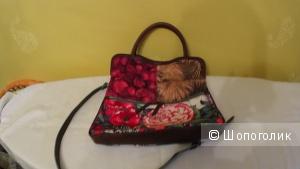 Летняя холщовая сумка фирмы Desigual, цвет мультиколор!