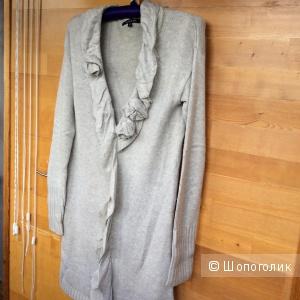 Платье-свитер длинный джемпер размер 2 S бу