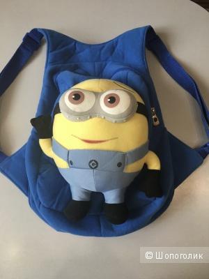Детский рюкзачок с Миньоном 3D. Синий. 34*26*7 см.